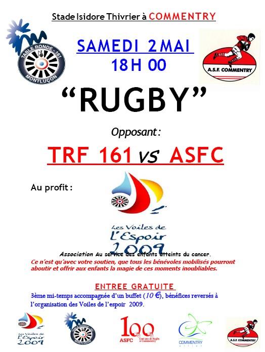 Affiche match de rugby